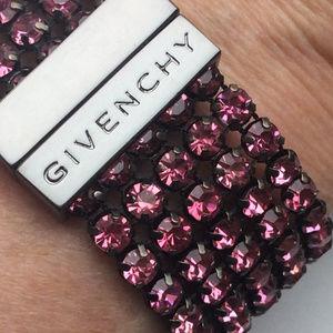 Givenchy Magnet Rose Crystal Mesh Bracelet